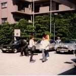Godzilla and cars at Daicon, Osaka